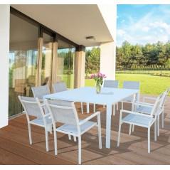 Foto tavolo Vittoria in esterno color bianco