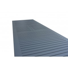 Tavolo Olbia in Alluminio Allungabile  Vari Colori e Misure vista doghe