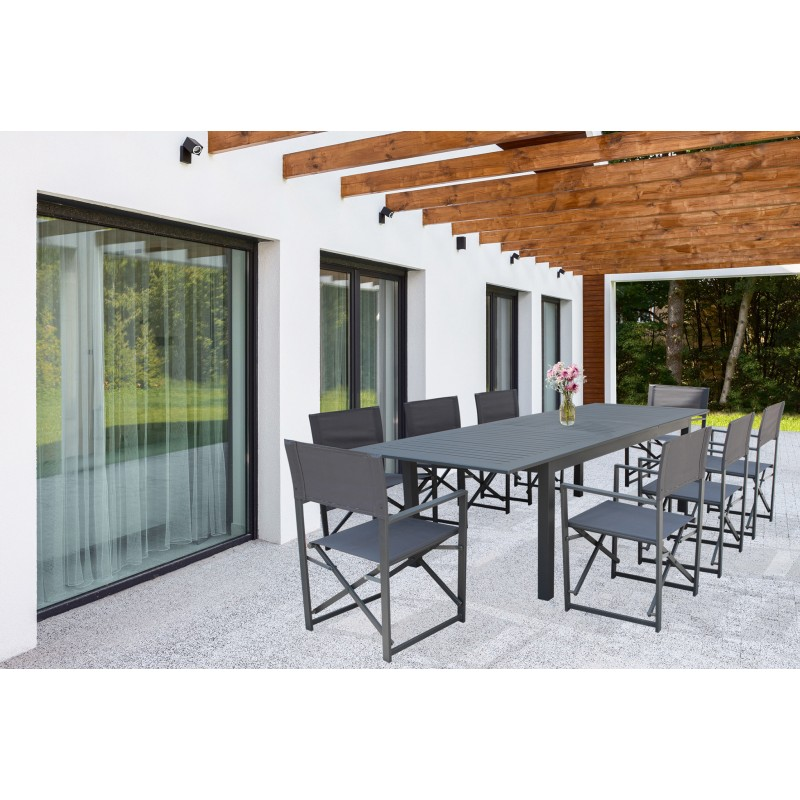 Tavolo Olbia in Alluminio Allungabile  Vari Colori e Misure foto giardino