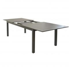 Tavolo Olbia in Alluminio Allungabile  tortora  in prospettiva
