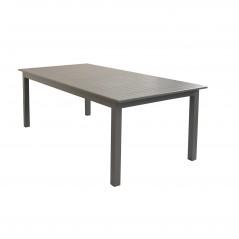 Tavolo Olbia in Alluminio Allungabile  tortora chiuso