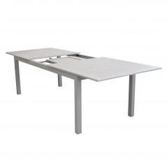 Tavolo Olbia in Alluminio Allungabile  Grigio con apertura