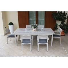 Tavolo Olbia in Alluminio Allungabile  Grigio foto in giardino
