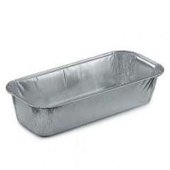 100 Vaschette Rettangolari in Alluminio per Plumcake