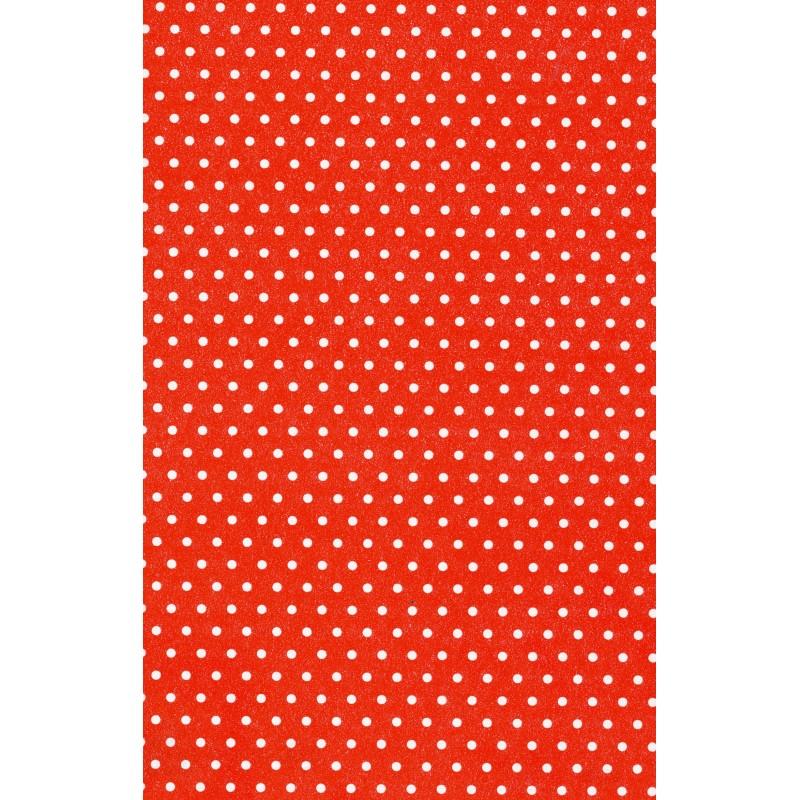 25 Fogli di Carta da Regalo Monopatinata Pois rosso