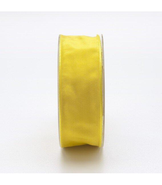 Nastro Tessuto Cangiante Giallo Limone