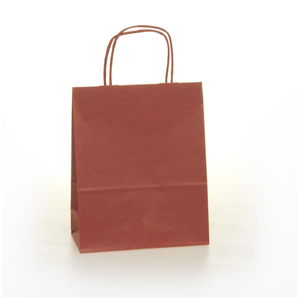 Shopper Carta Colorata Cordino Confezione 25 Pezzi Bordeaux