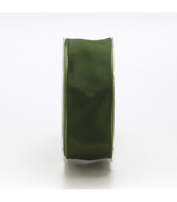 Nastro Tessuto Cangiante Verde Scuro