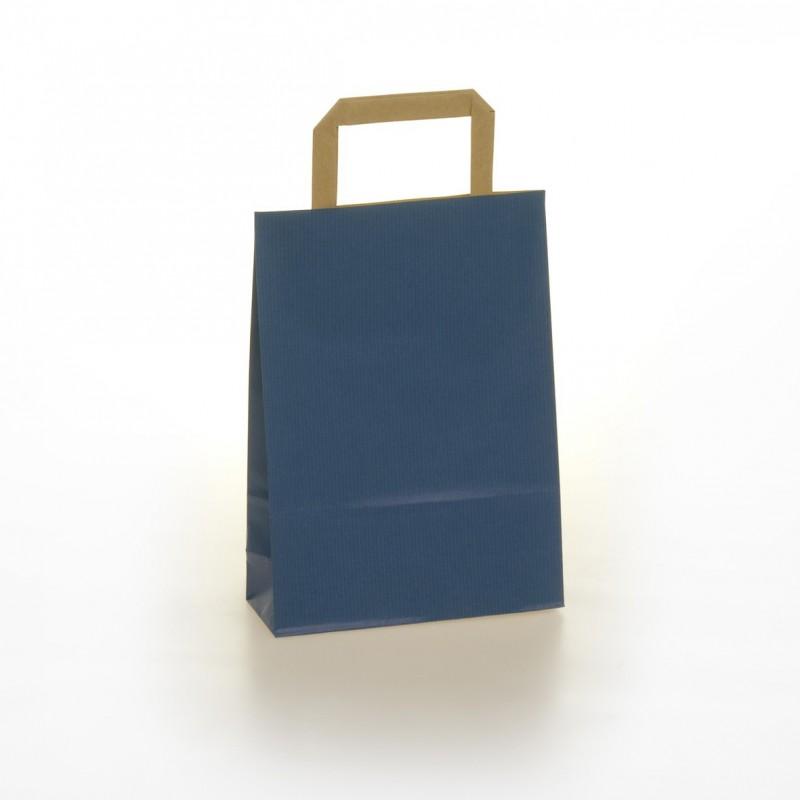 Shopper Carta Colorata Maniglia Piatta BLU
