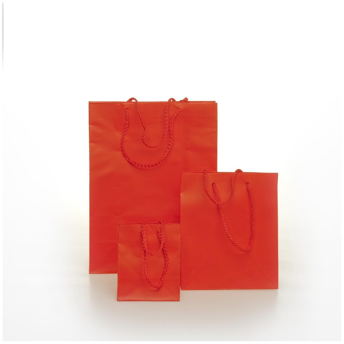 Shopper Carta Colorata Risvoltata Maniglia Cordino Confezione 12 Pezzi
