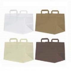 500 Shopper Fondo Largo Cm.28x17x35 Personalizzate Pasticceria e Gelateria