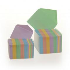 Biglietto+Busta Cartoncino Colorato Confezione 100 Pezzi Colori Tenui