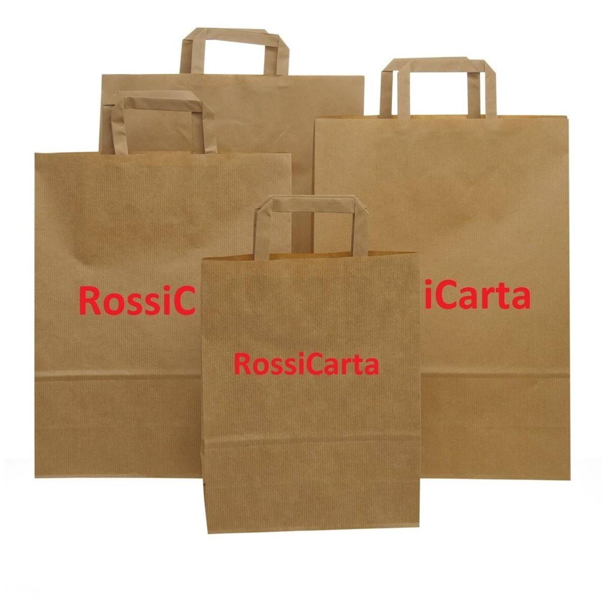 Shopper Sealing Avana Maniglia Piatta Personalizzate 1 Colore 2 Lati