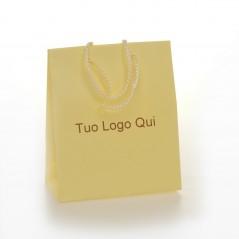Shopper Lusso Stampati a Caldo Carta Plastificata Opaca e Maniglia Cordino