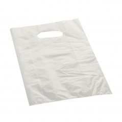 Shopper Plastica a Manico Fagiolo Trasparente (al Kg.)