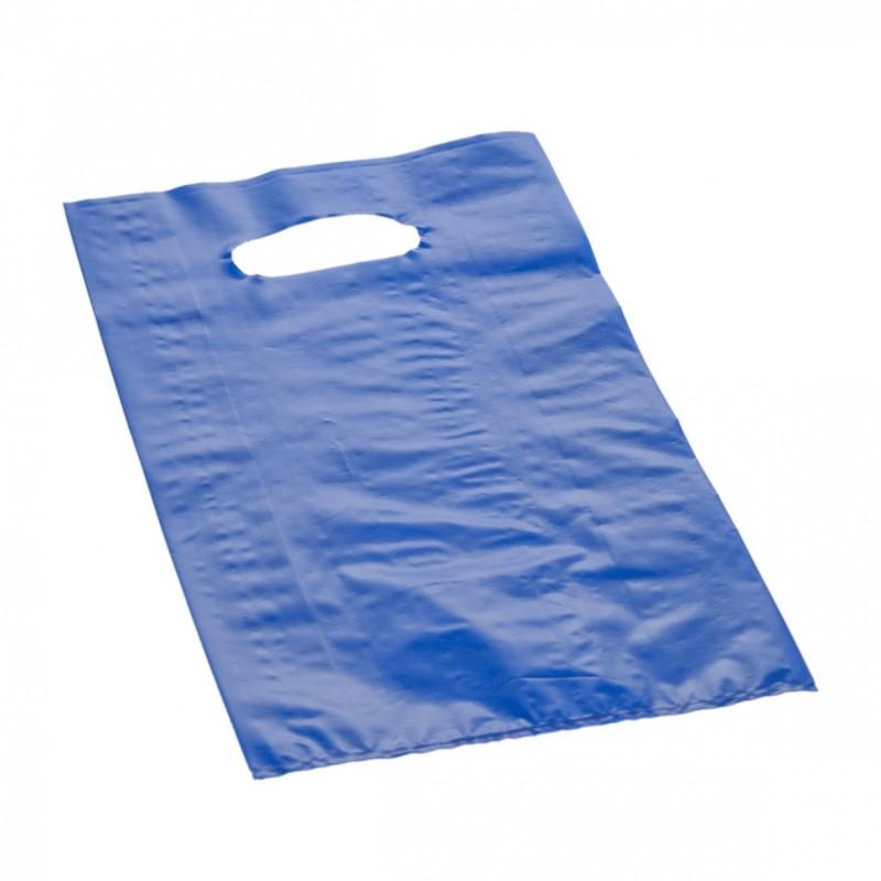 Shopper Plastica a Manico Fagiolo Colorato (al Kg.) Blu