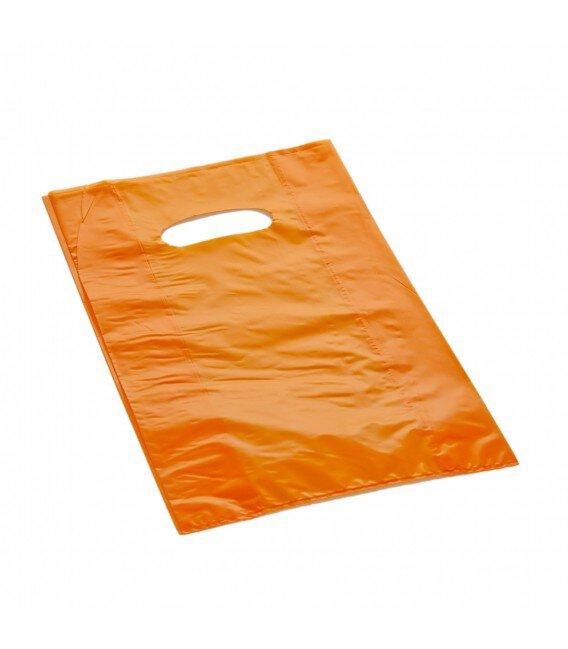 Shopper Plastica a Manico Fagiolo Colorato (al Kg.) Arancio