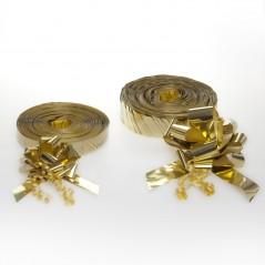 Fiocchi a Tirare di Nastro in Polipropilene Metallizzato Confezione 50 Pezzi Oro