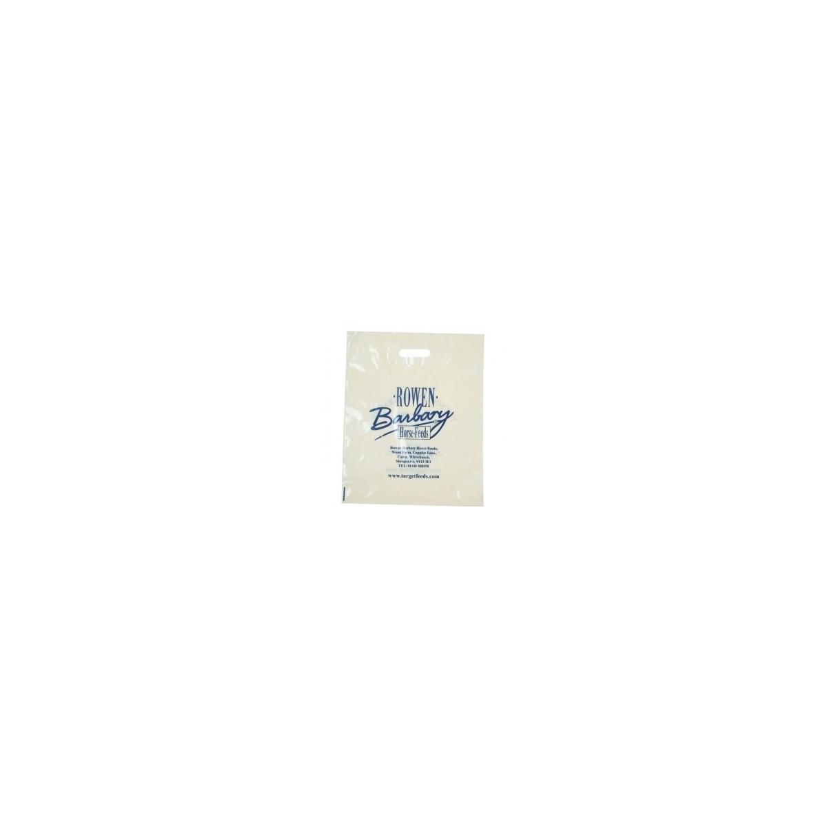 50 Kg. Sacchetti con Manico a Fagiolo in LDPE + Additivo Personalizzati
