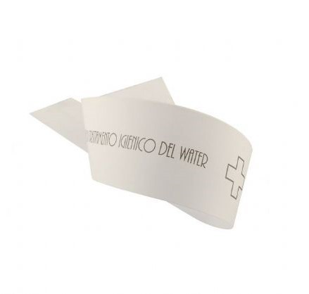 Strisce Garanzia WC in carta, 1000 pezzi.