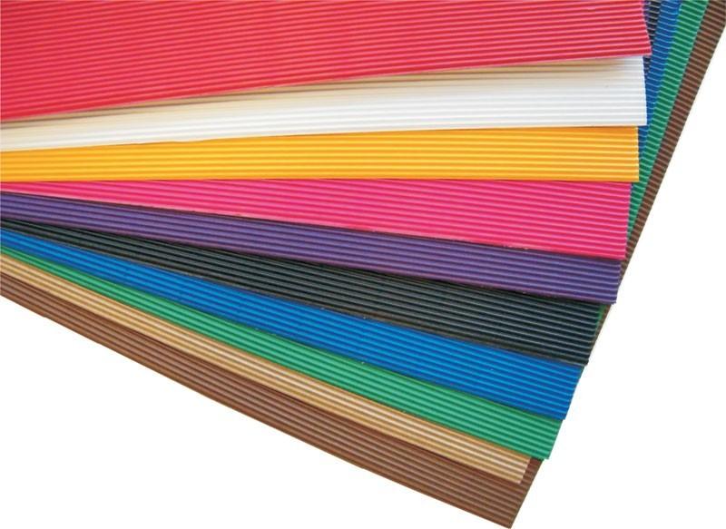 Foglio Cartoncino Onda Colorato Cm.70x50