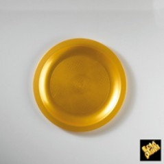 Piatti Piani Plastica Oro