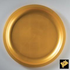Piatti tondi da portata Plastica Oro