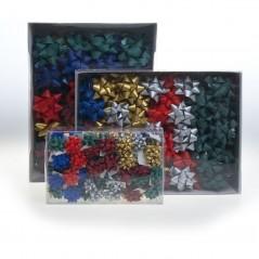 Stelle in Nastro di Carta Sintetica Opaco Mm.10 Confezione 72 Pezzi Colori Invernali