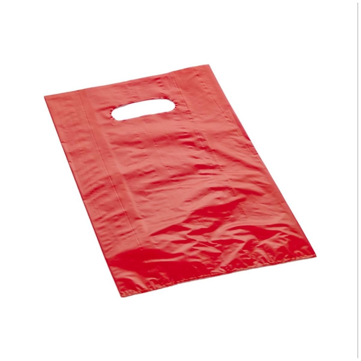 Shopper Plastica a Manico Fagiolo Colorato (al Kg.) Rosso