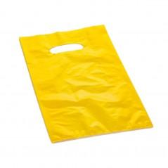 Shopper Plastica a Manico Fagiolo Colorato (al Kg.) Giallo