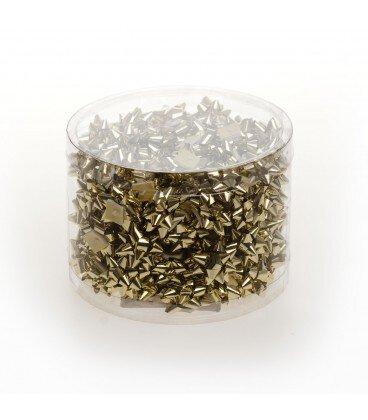 Stelle in Nastro di Polipropilene Metallizzato Mm.5 Confezione 100 Pezzi Oro