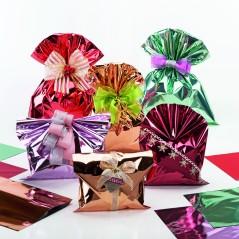 Busta Regalo Polipropilene Colorate Metallizzate Lucide in Confezione da 50/25 Pezzi
