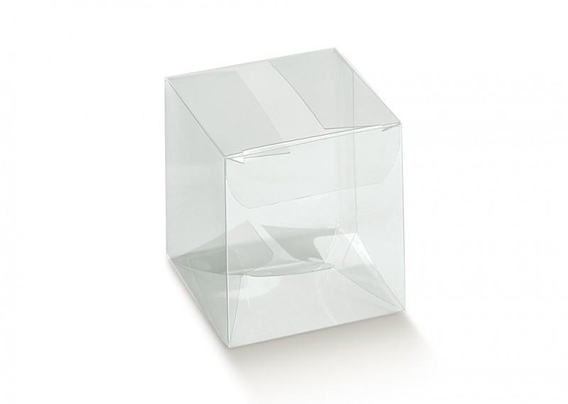 10 Scatole Quadrate Trasparenti