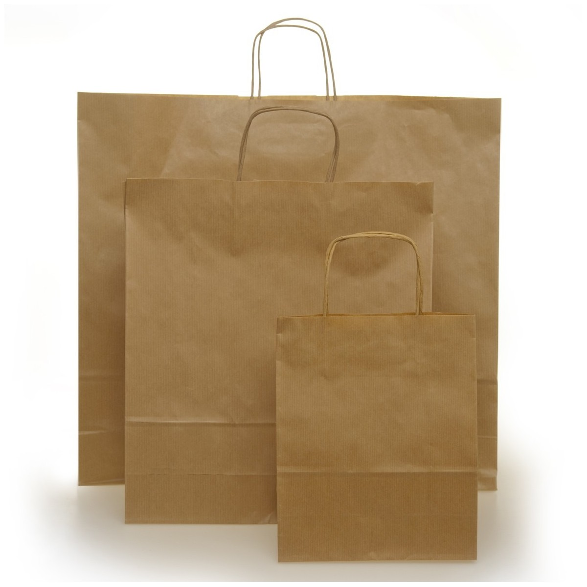 Shopper Carta Sealing Avana Maniglia Cordino 25 Pezzi