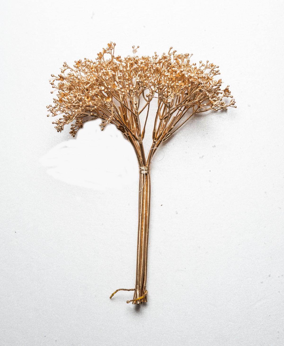 Bouquette Gypsophila cm 27 Oro