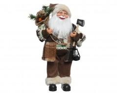 Babbo Natale Bianco con Lanterna cm 60