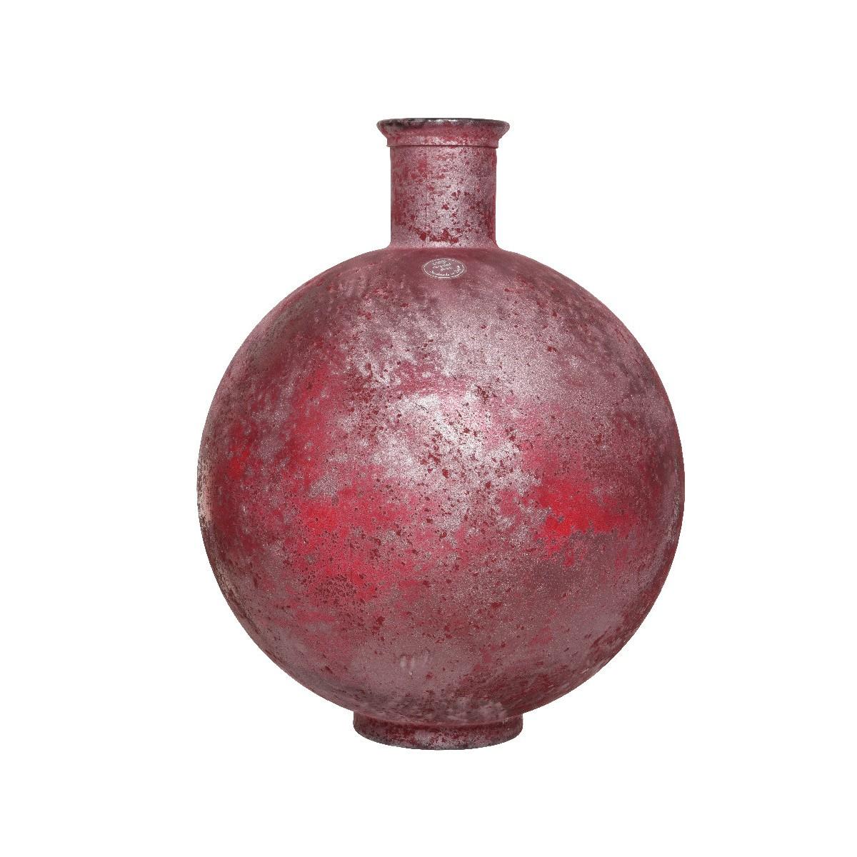 Vaso di vetro Tondo Rosa cm 44