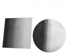 Piatto Satinato Argento diametro 10 cm