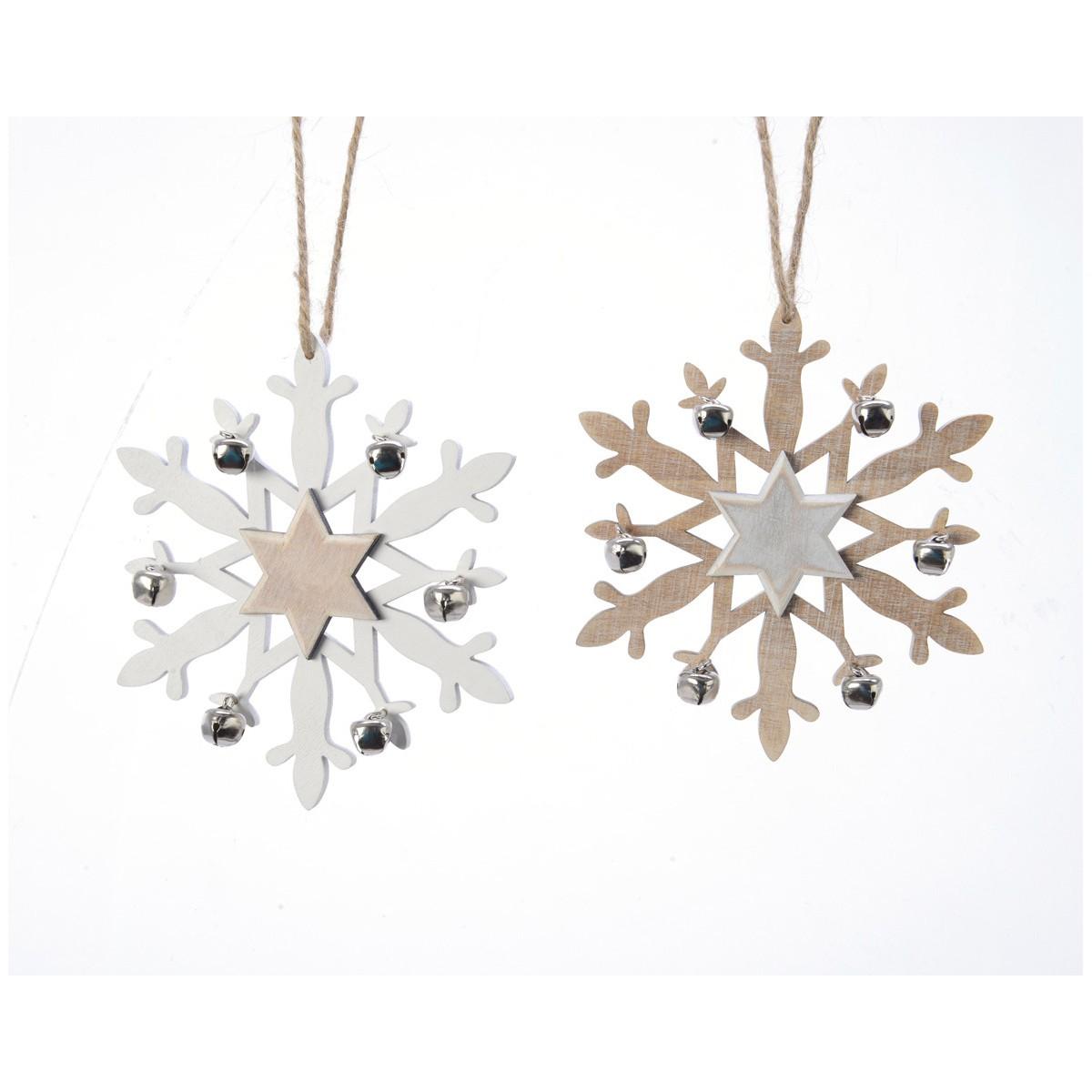 Fiocco di Neve con Campanelli diametro 14