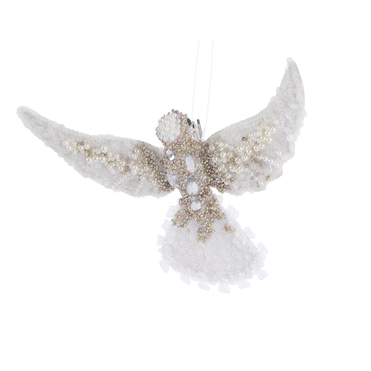 Uccellino Bianco Strass