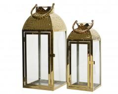 Lanterna in Metallo Oro cm 14