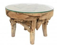 Tavolino con piano in Vetro diametro 60
