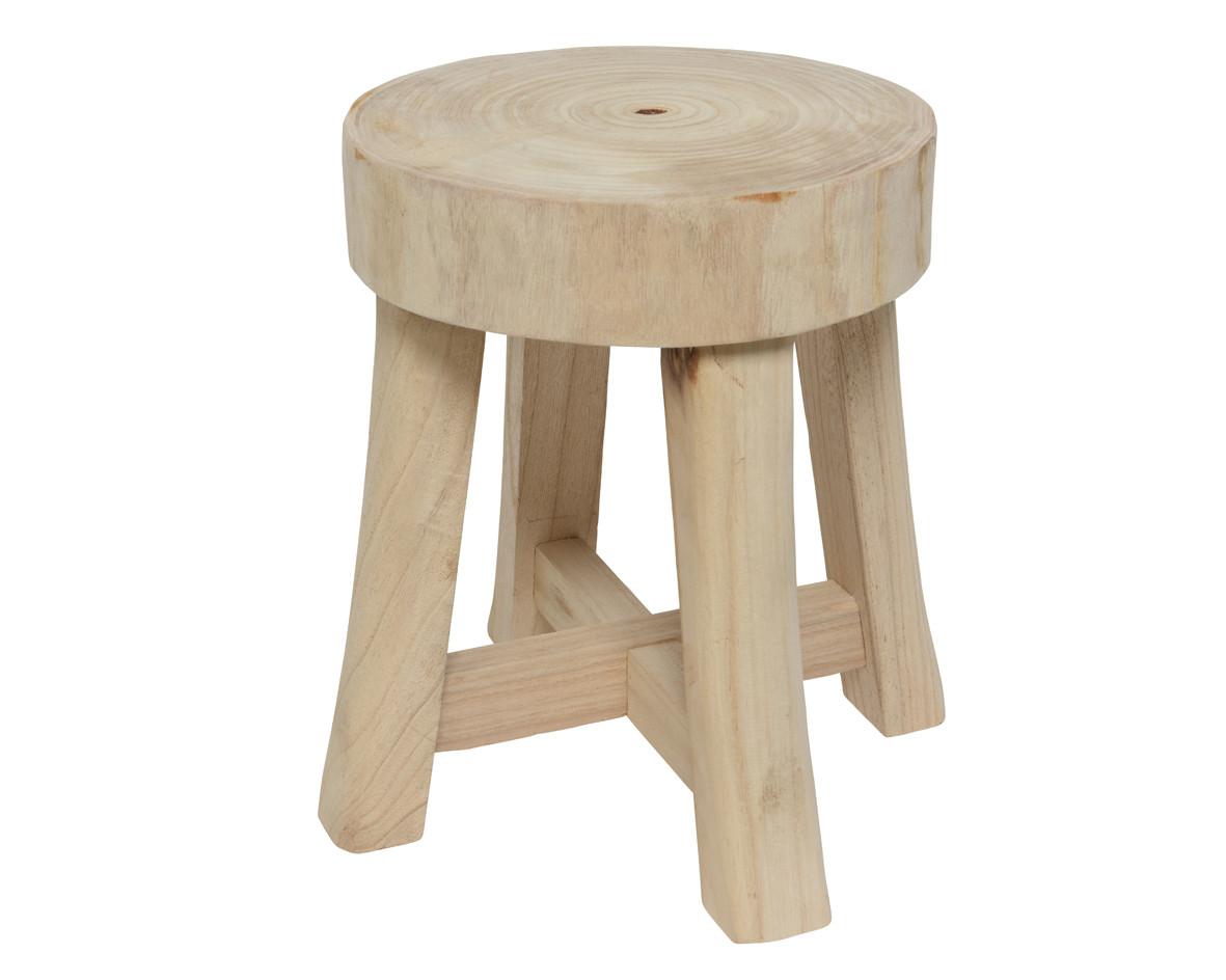 Sgabello in legno naturale