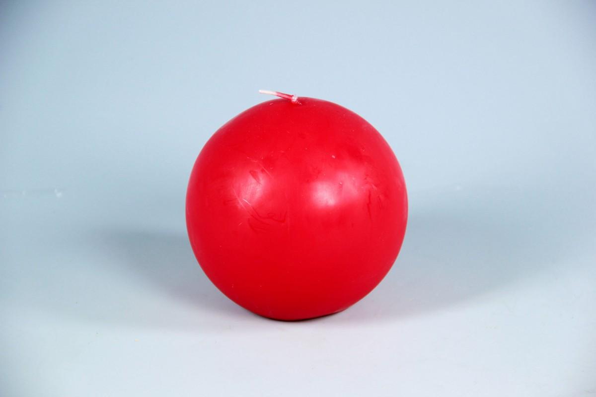 4 Candele Sfera Diametro mm. 100 Rossa