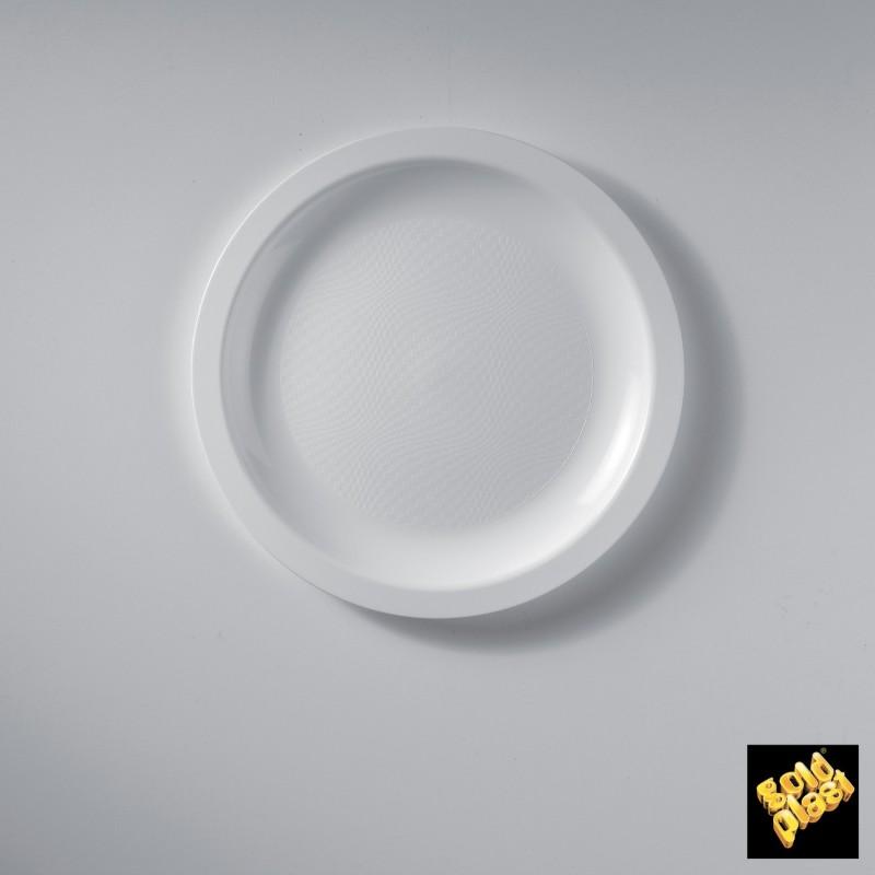 Piatto da Dessert in Plastica Bianco Diam. Cm.18,5 Confezione 50 Pezzi