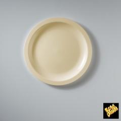 Piatto da Dessert in Plastica Colorato Diam. Cm.18,5 Confezione 50 Pezzi Avorio