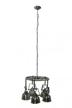 Lampadario Roxy Ferro 5 luci direzionabili