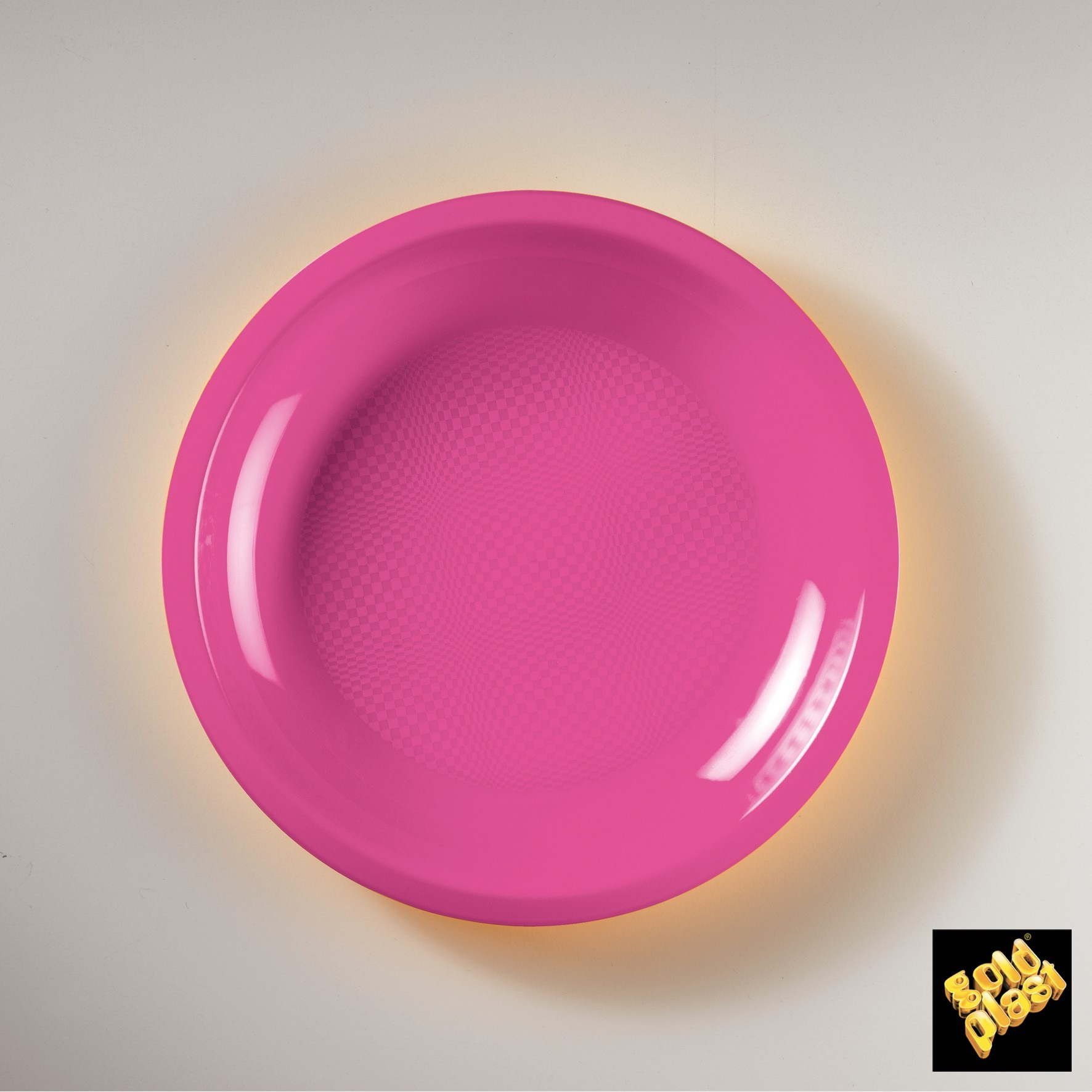 50 piatti tondi piani in plastica colorata - Ingrosso bevande piano tavola ...