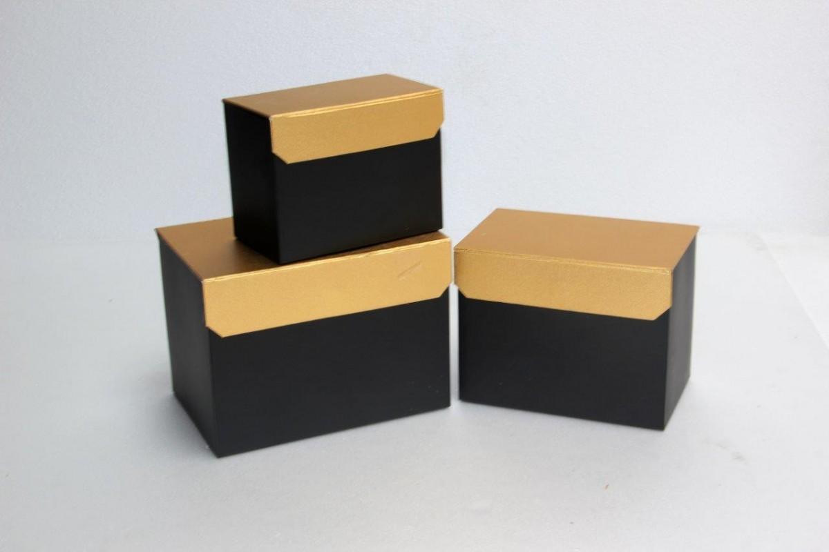 Set 3 Scatole Oro/Nero