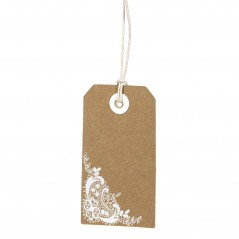 Cartellino tag pizzo corner 4,5 x 8 pz.24